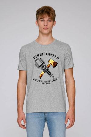 Crossed Tools Feuerwehr T-Shirt Grau Man