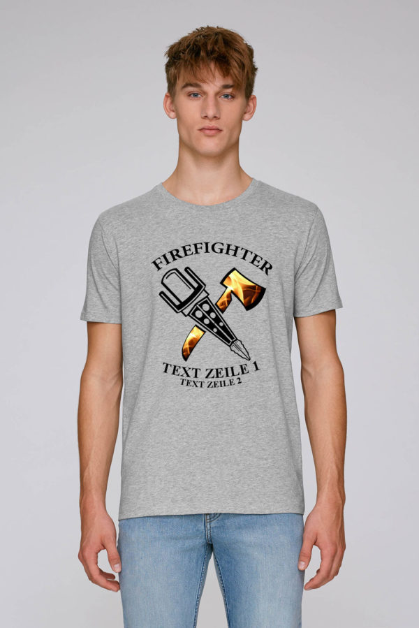 Crossed Tools Feuerwehr T-Shirt Man grau