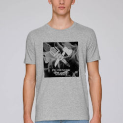 T-Shirt Crossed Tools on Fire grey man