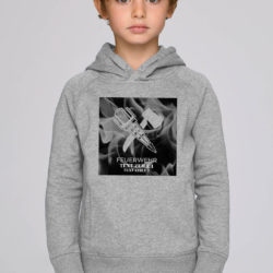 Hoodie Crossed Tools on Fire grey