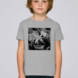 T-Shirt Crossed Tools on Fire grey